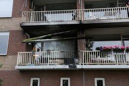 Brand op balkon flat Hilversum