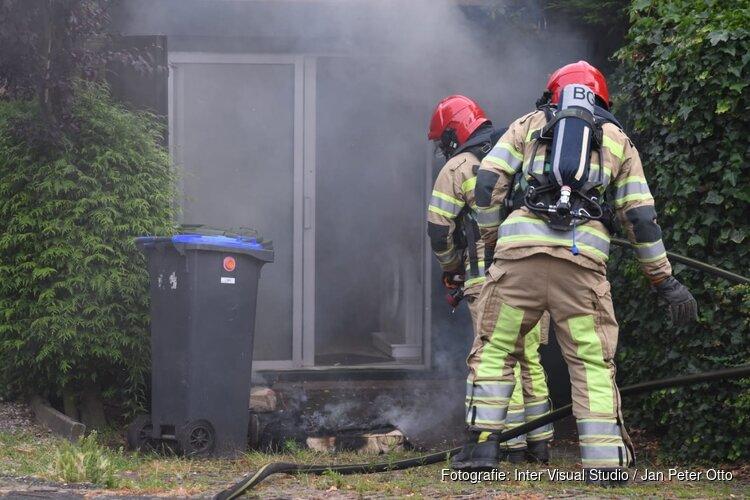Schuurtje in brand in Hilversum