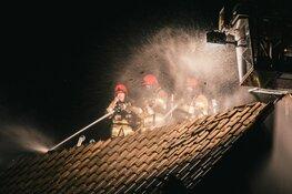 Brand door blikseminslag in woning Hilversum