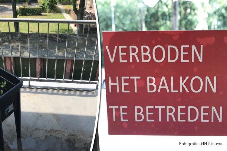Bewoners van twee Hilversumse flats mogen hun onveilige balkon voorlopig nog niet op