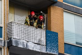 Hilversums balkon in brand