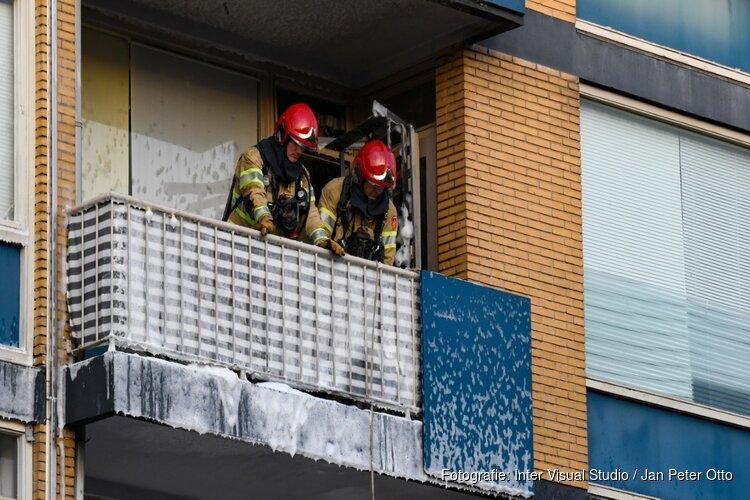 Hilversums balkon in brand