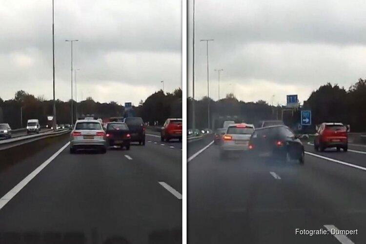 Automobilist op A1 botst expres op andere bestuurder om 'wraak' te nemen