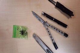 Vlindermes, stiletto en drugs: Hilversumse tieners gepakt met wapens op zak