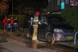 Bestelbus uitgebrand in Hilversum