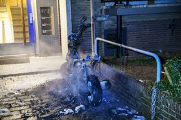 Scooter door brand verwoest