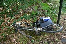 Wiel van fiets breekt opeens af